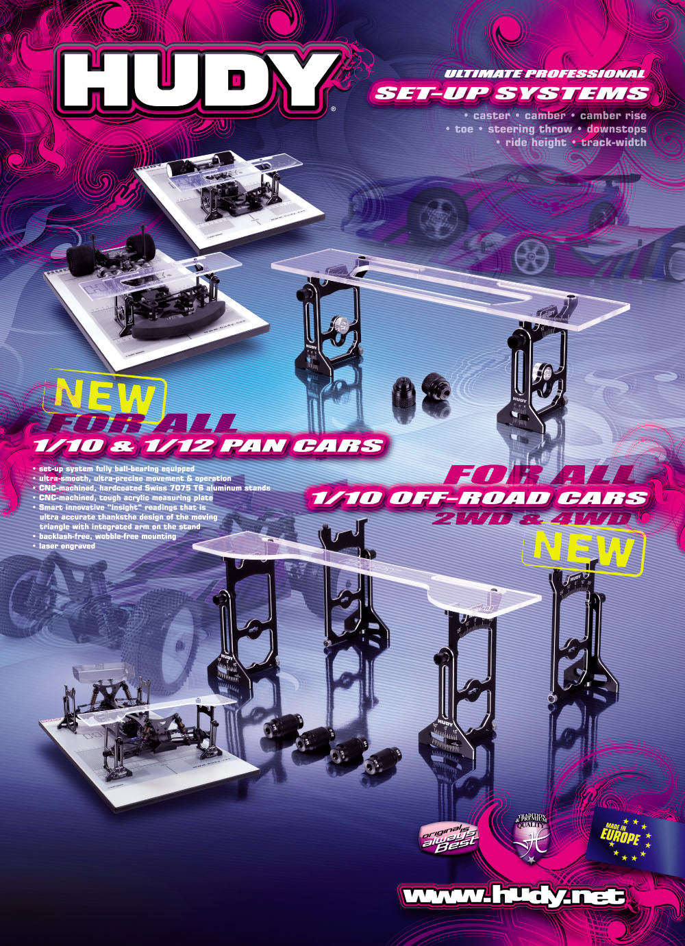 HUDY SHOP PROMO PANEL PAN CAR & 1/10 OFF-ROAD SET-
