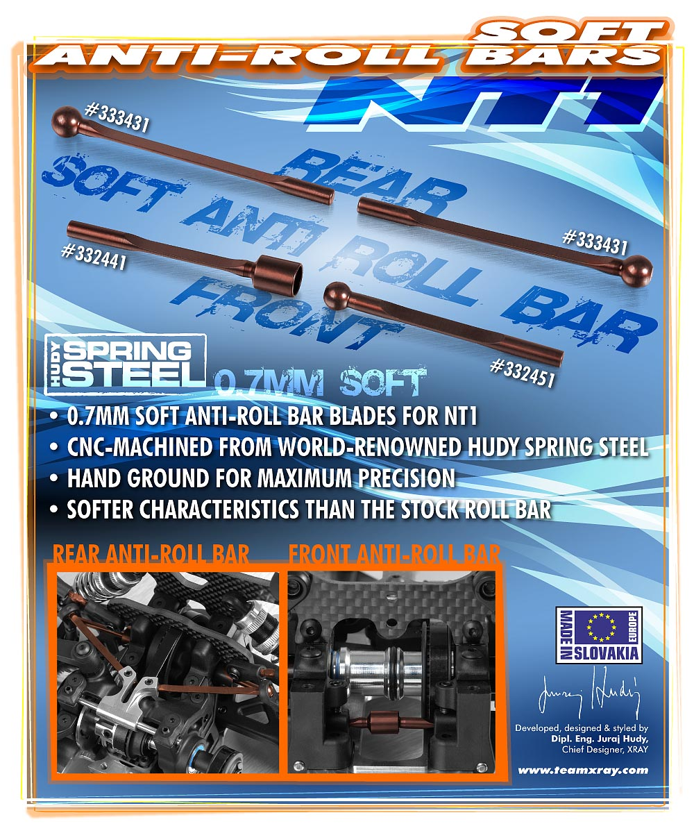 ANTI-ROLL BAR FRONT FEMALE 0.7MM - HUDY SPRING STEEL™