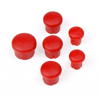PLASTIC CAP FOR HANDLE ( SET -  3+2+1) RED