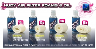 AIR FILTER FOAM & OIL - LOSI EIGHT (10)