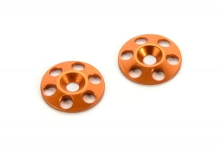 HUDY ALU REAR WING SHIM - ORANGE (2)