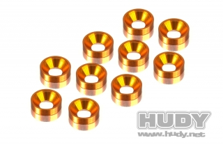 ALU COUNTERSUNK SHIM - ORANGE (10)
