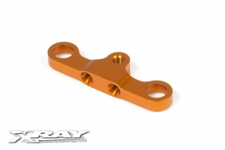 T4 ALU STEERING PLATE 8MM FOR DUAL SERVO SAVER - ORANGE