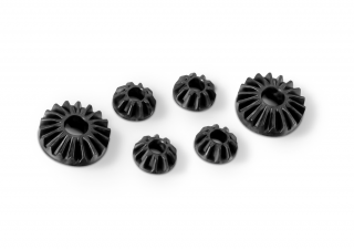 GRAPHITE GEAR DIFF BEVEL & SATELLITE GEARS (2+4) - LOW