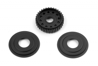 DIFF PULLEY 34T WITH LABYRINTH DUST COVERS