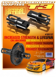 STEEL SOLID AXLE DRIVESHAFT ADAPTERS - HUDY SPRING STEEL™ (2)