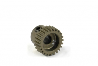 NARROW ALU PINION GEAR - HARD COATED 24T / 64