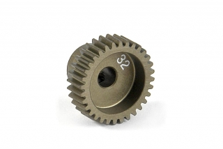NARROW ALU PINION GEAR - HARD COATED 32T / 64