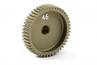 NARROW ALU PINION GEAR - HARD COATED 46T / 64