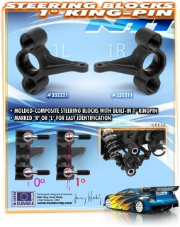 COMPOSITE STEERING BLOCK 1° KINGPIN RIGHT
