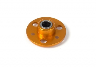 DRIVE FLANGE WITH ONE-WAY BEARING - ALU 7075 T6 - ORANGE