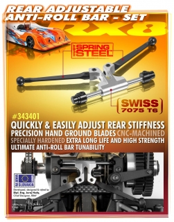 REAR ADJUSTABLE ANTI-ROLL BAR - SET
