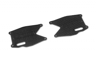 XB8 GRAPHITE REAR LOWER ARM PLATE (2)