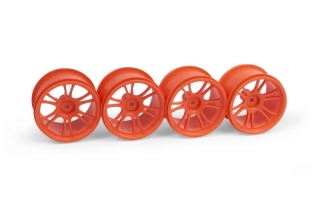 XRAY M18MT STARBURST WHEELS - ORANGE (4)