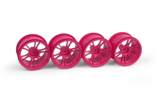 XRAY M18MT STARBURST WHEELS - PINK (4)