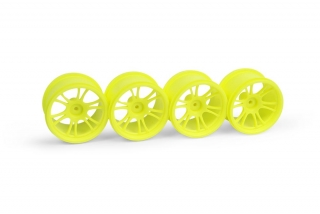 XRAY M18MT STARBURST WHEELS - YELLOW (4)