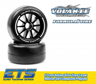 Volante F1 Front Rubber Slick Tires Medium Soft Compound Preglued (2pcs)