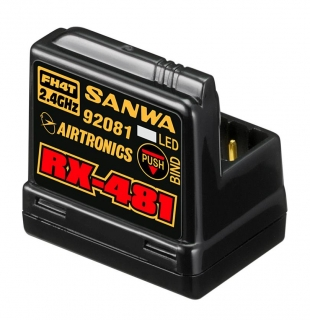 Sanwa RX-481 Receiver with integrated antenna (2.4 GHz, FH4, 4-Channel, SSR)